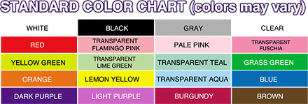 Flarble Color Chart